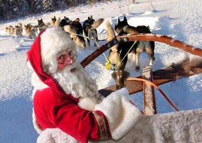 Kerstman met hushkies - puurentertainment