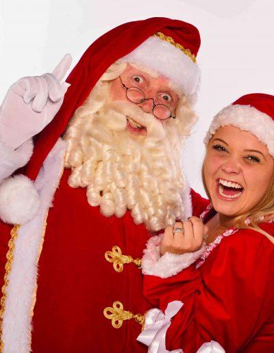 kerstman en vrouw - puurentertainment.nl